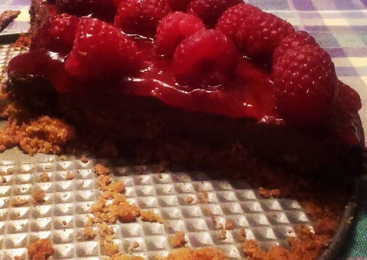 10 Minute Recipe of Vegan Chocolate raspberry dairy free cheesecake