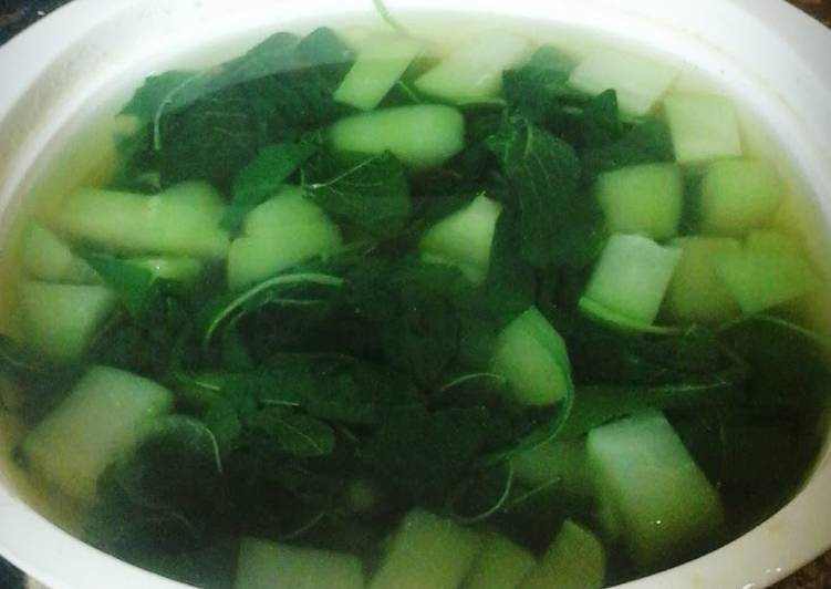 Easiest Way to Cook Perfect Spinach Soup (Sayur Bayam)