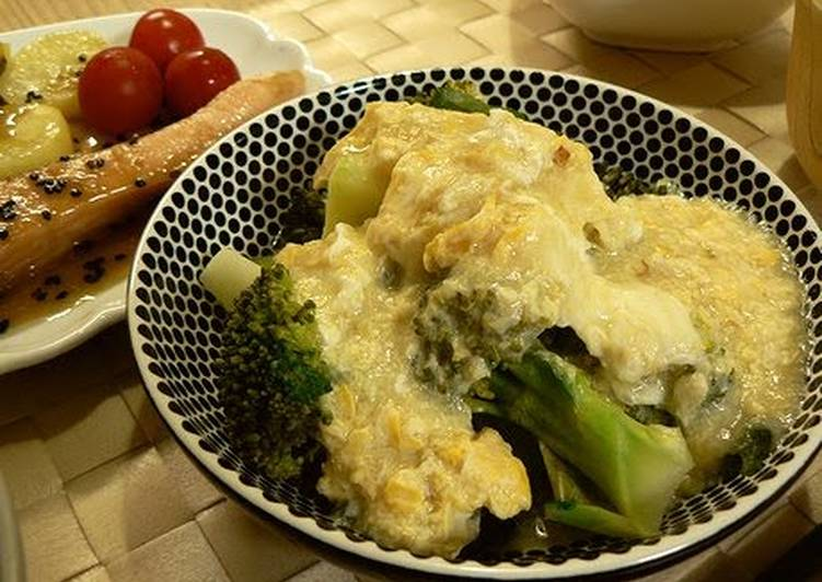 Broccoli with Fluffy Omelette and Ankake Sauce, Some Foods That Are Helpful To Your Heart