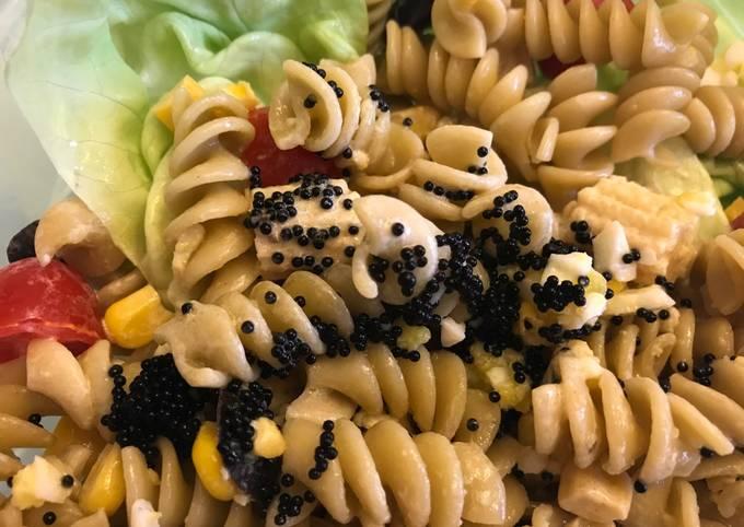Black Tobiko Pasta Salad