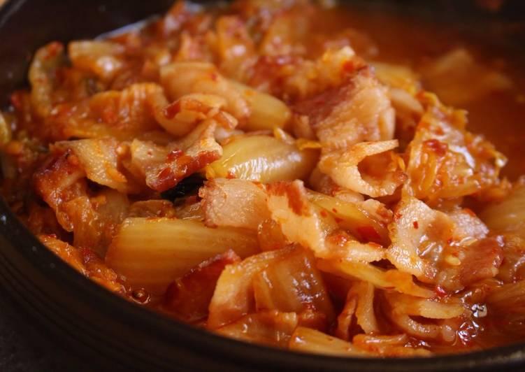 Super EasyBacon & Brown Sugar Braised Kimchi