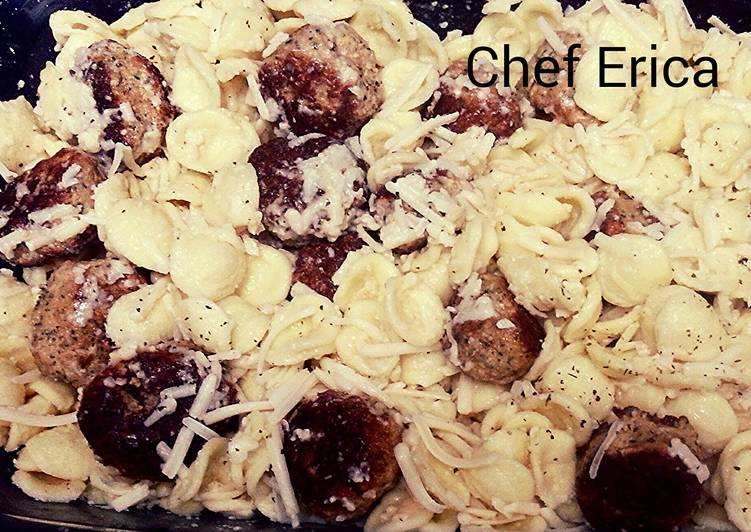 Step-by-Step Guide to Prepare Most Popular Orecchiette with mini chicken meatballs