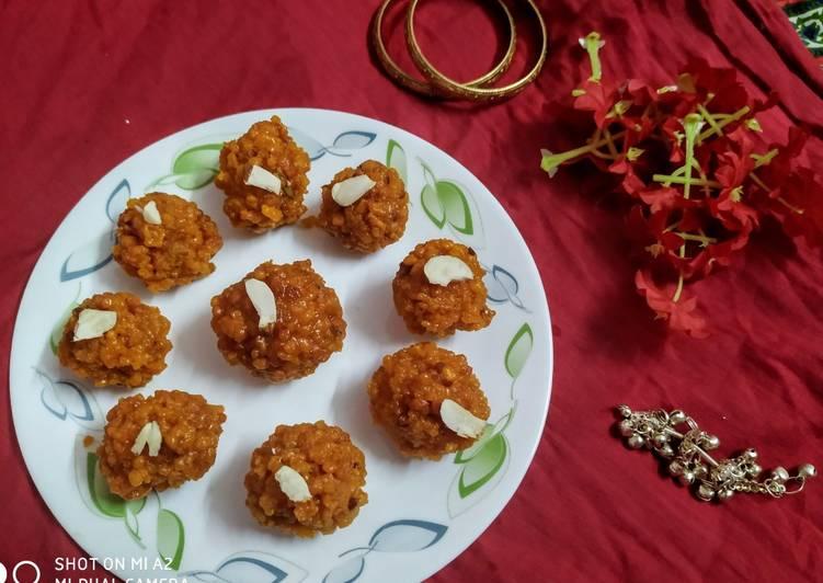 Steps to Make Homemade Motichur laddu
