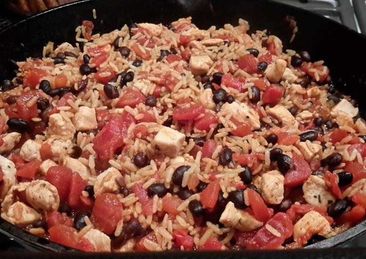 Cajun Style - Chicken, Black Beans & Brown Rice