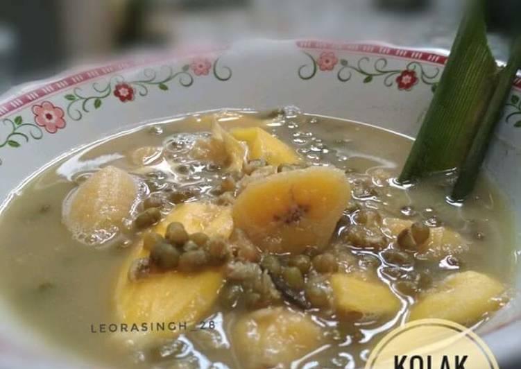 Kolak kacang hijau, nangka dan pisang