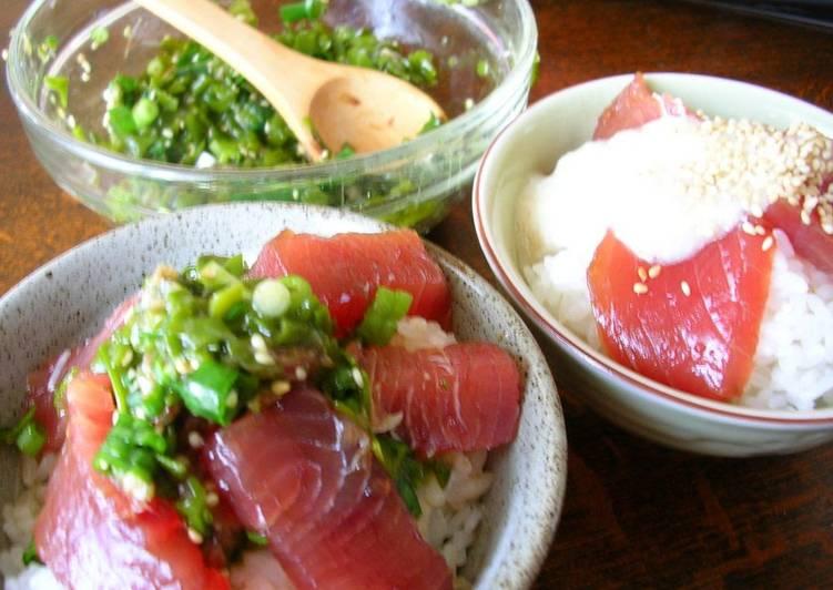 Recipe of Super Quick Homemade Ocean Bowl with Tuna and Mekabu