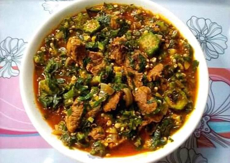 Okro and Uziza Soup