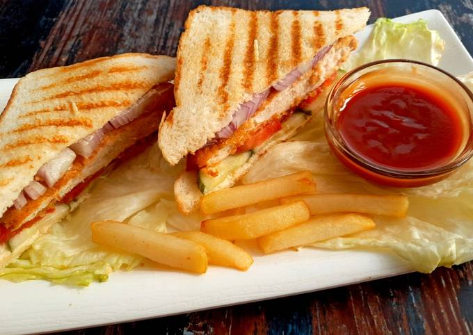 Recipe of Perfect Grilled Fried Chicken Sandwich