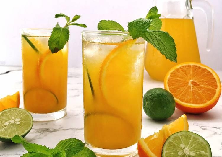 Air Oren dan Limau Nipis #maratonraya #minuman - resepipouler.com
