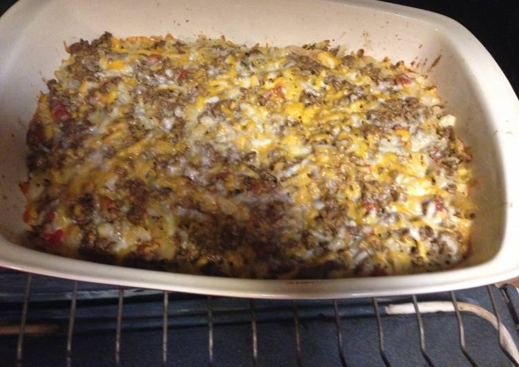 Lisa's Cheesy Beef ranch Hashbrown Casserole