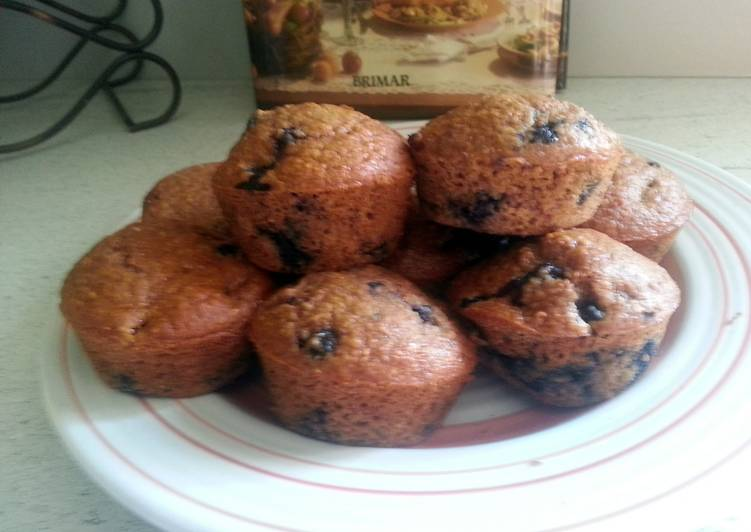 Whole-wheat blueberry oatmeal muffins