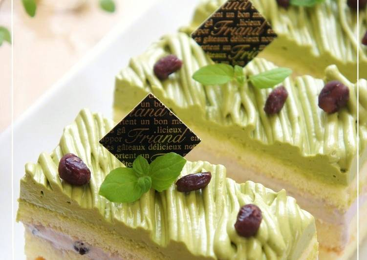 Step-by-Step Guide to Prepare Award-winning Matcha Chocolate Adzuki Mont Blanc Shortcake