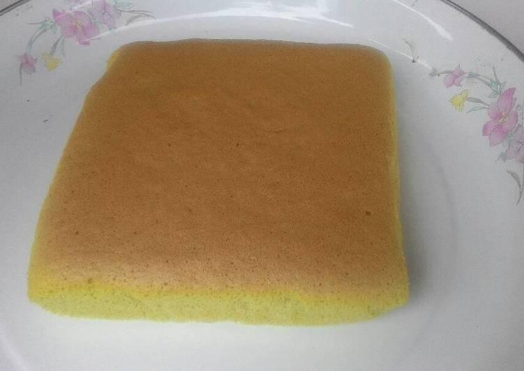 Pandan ogura cake 3 telur