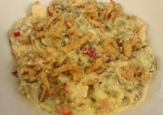 Cheesy Chicken Green Bean Casserole