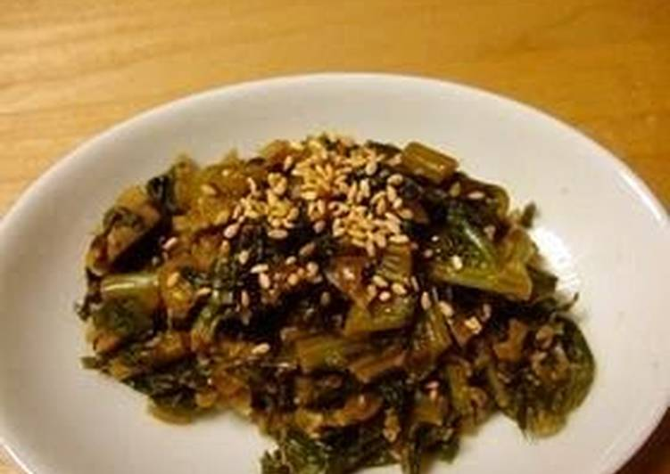 Easiest Way to Make Delicious Macrobiotic All-Purpose Stewed Daikon Radish Leaves and Dried Shiitake Mushrooms