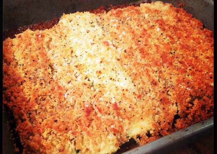 Parmesan Crumbed Zucchini