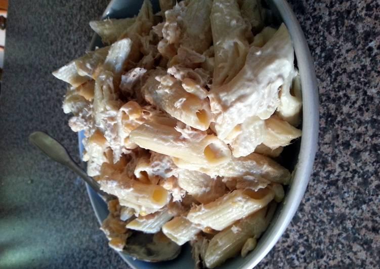 simple cold tuna pasta salad