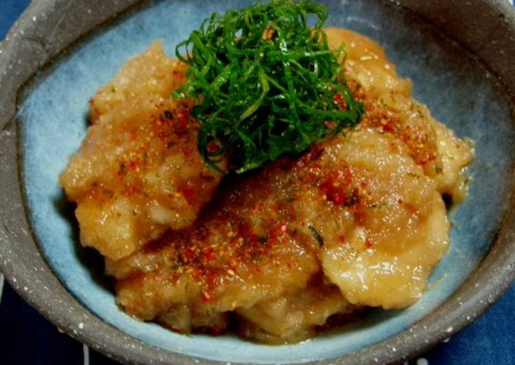 Recipe of Quick Japanese-Style Sautéed Chicken Breast Mizore Stew