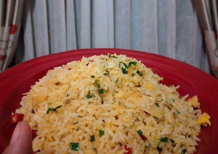 Nasi Goreng Telur Tanpa Minyak Goreng