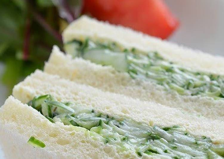 A Basic Cucumber Sandwich