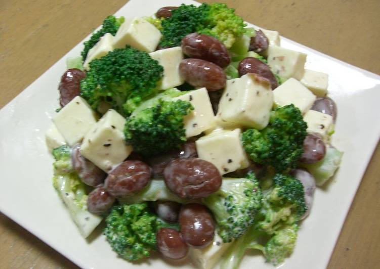 Turn to Food to Improve Your Mood Bean, Cheese and Broccoli Salad