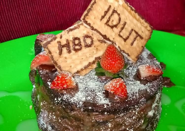 Kue Bolu kukus coklat takaran sendok
