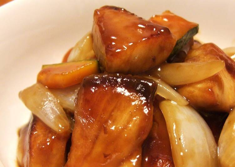 How to Make Super Quick Homemade Suburi ~ Amberjack with Sweet Vinegar Ankake Sauce ~