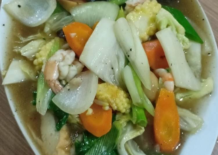 Capcay Goreng Seafood