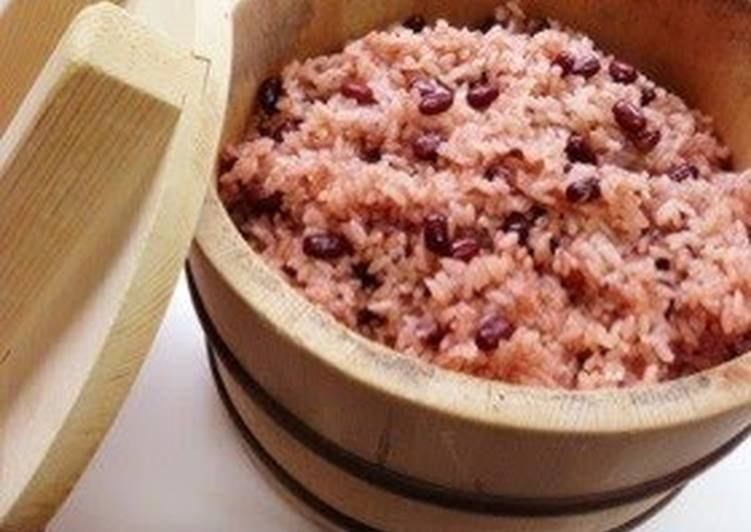 Recipe of Award-winning Easy Sekihan in a Rice Cooker