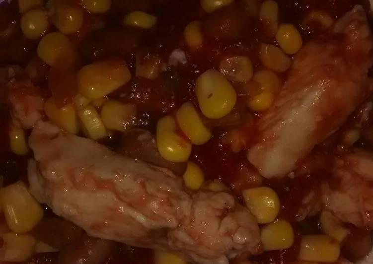 Recipe: Tasty Black bean salsa chicken (crock pot)