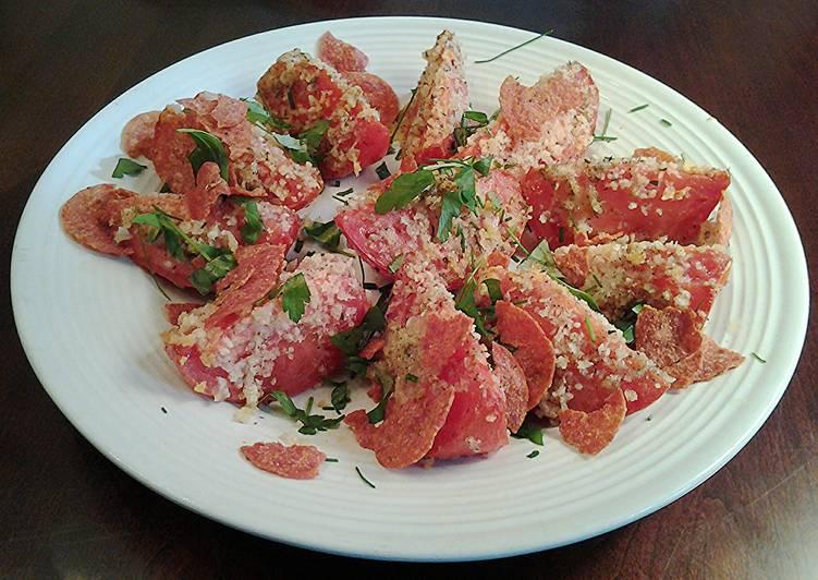 Crispy Topped Roasted Tomatoe Wedges