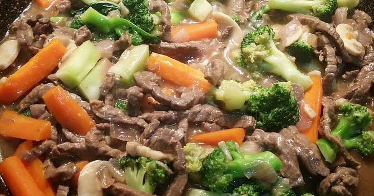 Beef Broccoli With Mushroom In Oyster Sauce Recipe By Madonna Tomas Cookpad
