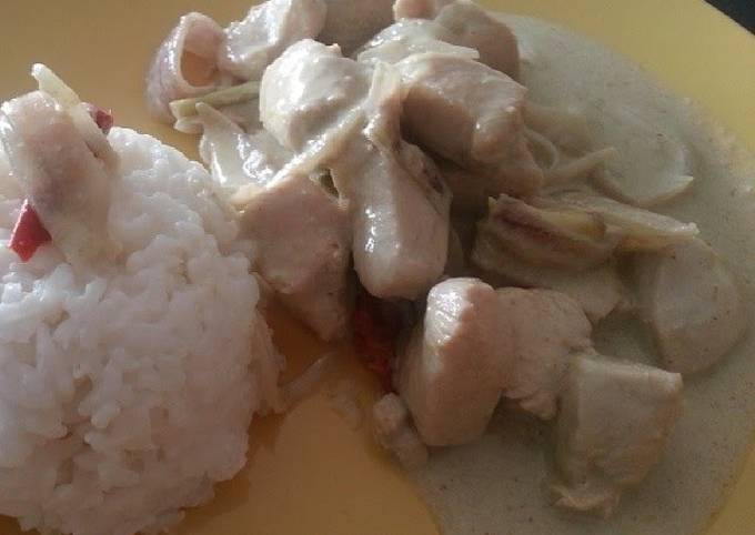 Easiest Way to Make Perfect West Indies Green Curry Chicken