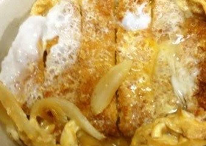How to Cook Appetizing Pork Loin Katsudon Rice Bowl