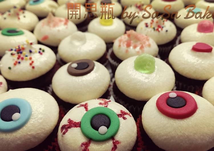 an eye for an eye red velvet cupcakes