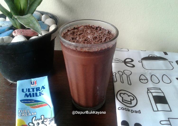 334. Susu Coklat Kocok (Chocolate Milk Shake) ala Cafe