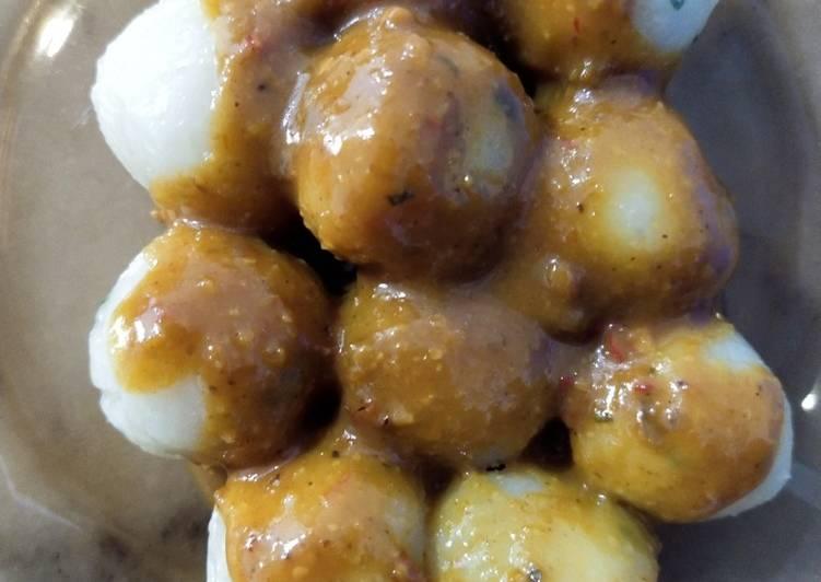 Cilok Isi kentang Bumbu Kacang (Vegan) Mantul