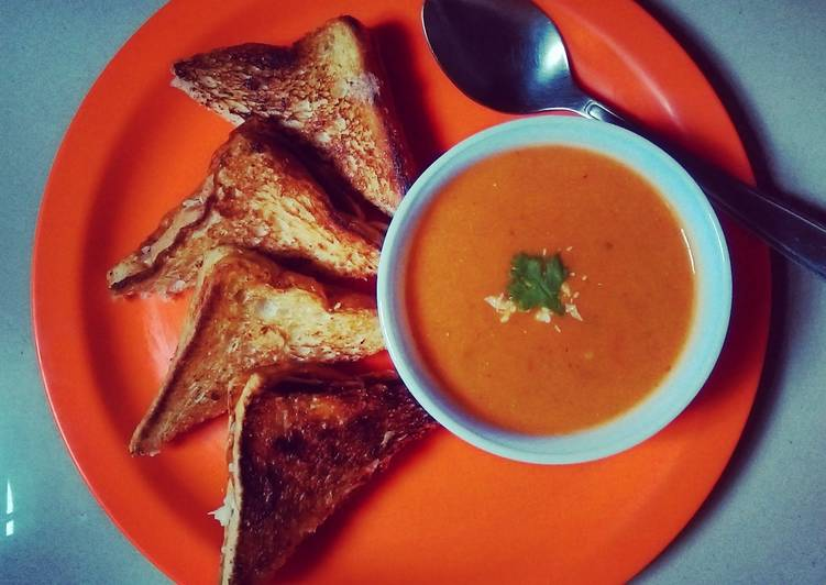 How to Prepare Perfect Indian Style Creamy Tomato Soup
