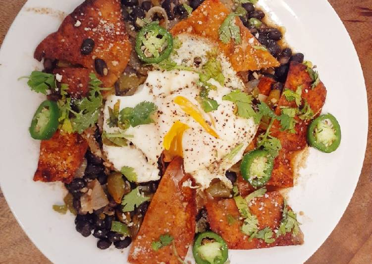 Old Fashioned Dinner Easy Winter Vegetarian Green Chili Chilaquiles