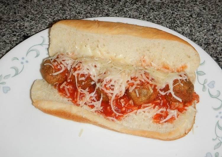 Recipe of Speedy Mikey's Five Minute Meatball Sub