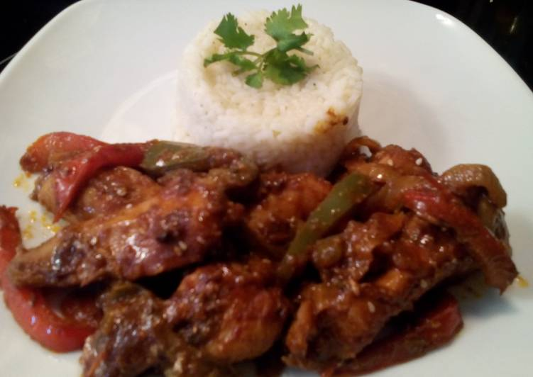 Sunshines chipotles smothered chicken