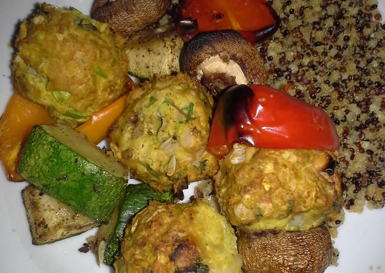 Indian Flavoured Meatballs Choosing Healthy and balanced Fast Food