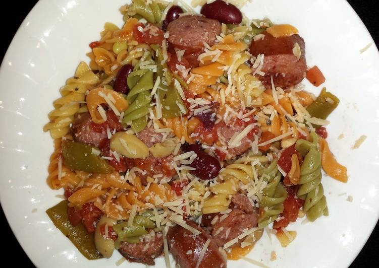 Sausage with Pasta and Beans