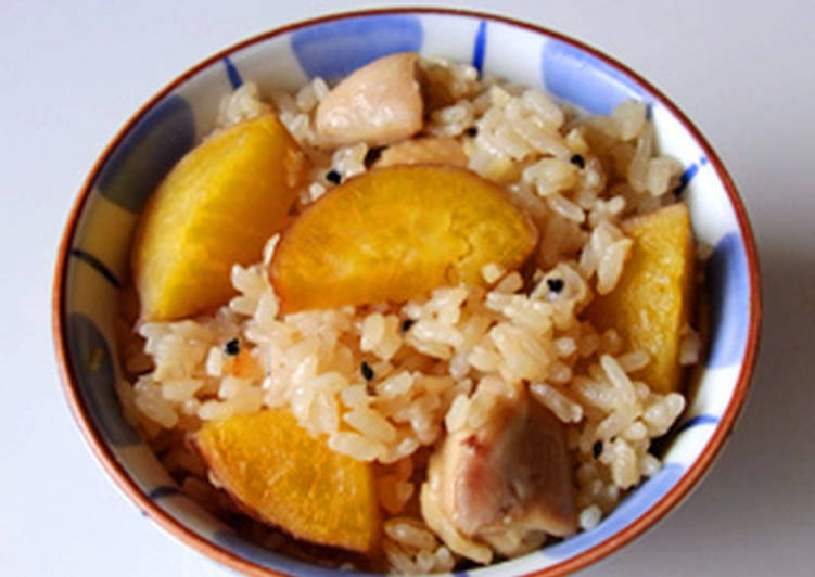 Easy Homemade Rice with Sweet Potato and Chicken Recipe