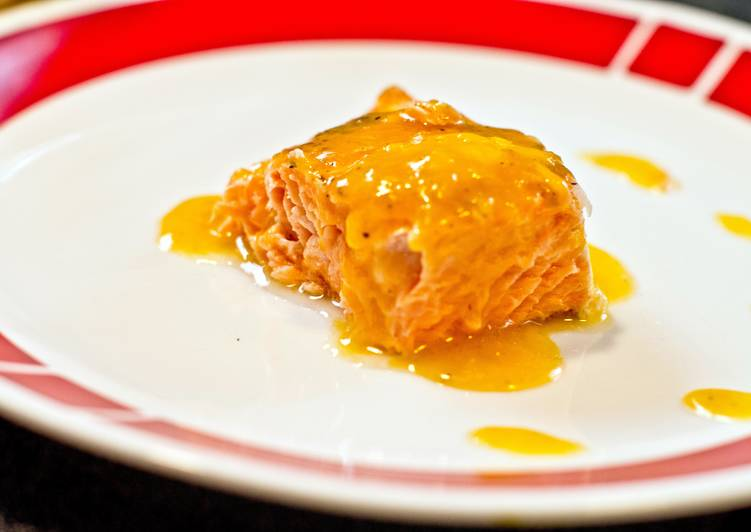 Orange honey-mustard Salmon
