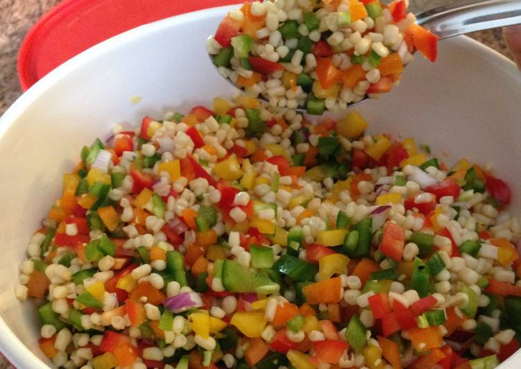 Bean, White Corn And Pepper Salsa