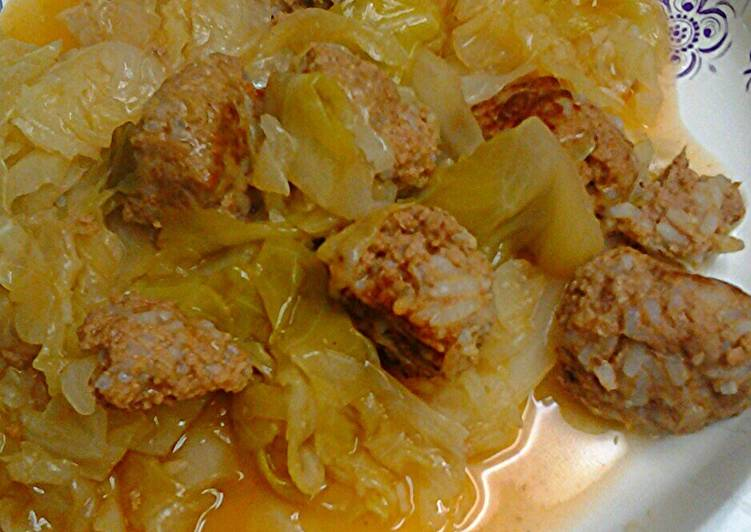 Steps to Prepare Perfect Cabbage with porcupine balls