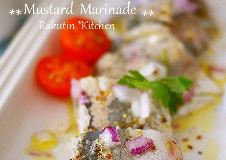 Easiest Way to Prepare Perfect Horse Mackerel Sashimi Tossed in Mustard Marinade