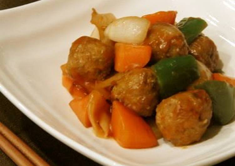 Easy Sweet and Sour Pork Meatballs with Sweet New Harvest Onion