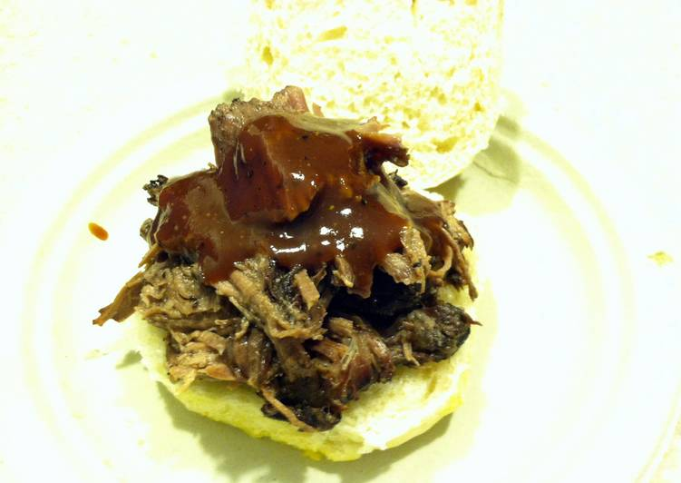 Recipe: Delicious Pulled BBQ Beef with Homemade BBQ Sauce